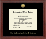 University of North Dakota Diploma Frame - Gold Engraved Medallion Diploma Frame in Signature