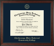 Chattanooga State Technical Community College Diploma Frame - Gold Embossed Diploma Frame in Studio