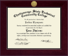 Chattanooga State Technical Community College Diploma Frame - Century Gold Engraved Diploma Frame in Cordova