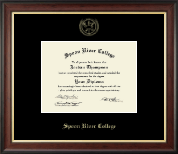 Spoon River College Diploma Frame - Gold Embossed Diploma Frame in Studio Gold