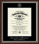University of Missouri Columbia Diploma Frame - Silver Embossed Diploma Frame in Devonshire