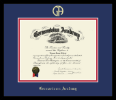 Germantown Academy Diploma Frame - Gold Embossed Diploma Frame in Metro