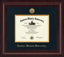 Eastern Illinois University Diploma Frame - Presidential Gold Engraved Diploma Frame in Premier