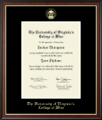University of Virginia's College at Wise Diploma Frame - Gold Embossed Diploma Frame in Studio Gold