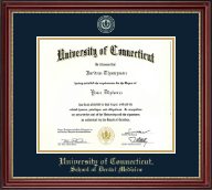 University of Connecticut Diploma Frame - Masterpiece Medallion Diploma Frame in Kensington Gold