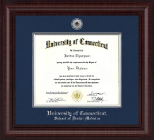 University of Connecticut Diploma Frame - Presidential Silver Engraved Diploma Frame in Premier