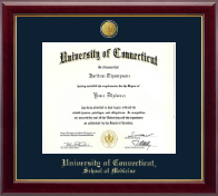 University of Connecticut Diploma Frame - 23K Medallion Diploma Frame in Gallery