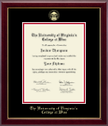 The University of Virginia's College at Wise Diploma Frame - Gold Embossed Diploma Frame in Gallery