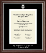 University of Virginia's College at Wise Diploma Frame - Silver Embossed Diploma Frame in Devonshire