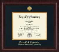Texas Tech University Diploma Frame - Presidential Gold Engraved Diploma Frame in Premier