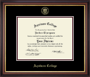 Aquinas College in Michigan Diploma Frame - Gold Embossed Diploma Frame in Regency Gold