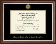 Medical University of South Carolina Diploma Frame - Gold Engraved Medallion Diploma Frame in Hampshire