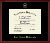 Lock Haven University Diploma Frame - Embossed Diploma Frame in Camby