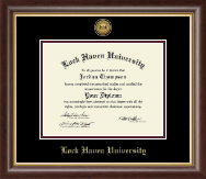 Lock Haven University Diploma Frame - Gold Engraved Medallion Diploma Frame in Hampshire