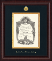 United States Military Academy Diploma Frame - Presidential Gold Engraved Diploma Frame in Premier