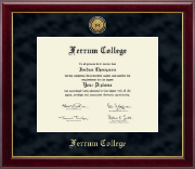 Ferrum College Diploma Frame - Gold Engraved Medallion Diploma Frame in Gallery