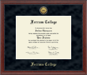 Ferrum College Diploma Frame - Gold Engraved Medallion Diploma Frame in Signature