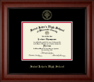 Saint John's High School Diploma Frame - Gold Embossed Diploma Frame in Cambridge