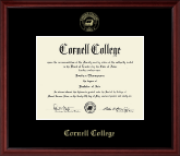 Cornell College Diploma Frame - Gold Embossed Diploma Frame in Camby