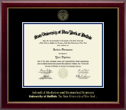 University at Buffalo The State University of New York Diploma Frame - Gold Embossed Diploma Frame in Gallery