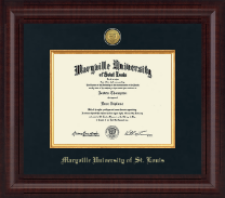 Maryville University of St. Louis Diploma Frame - Presidential Gold Engraved Diploma Frame in Premier