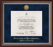 University of Pennsylvania Diploma Frame - Gold Engraved Medallion Diploma Frame in Hampshire