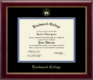 Landmark College Diploma Frame - Gold Embossed Diploma Frame in Gallery