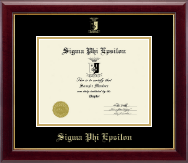 Sigma Phi Epsilon Certificate Frame - Embossed Certificate Frame in Gallery