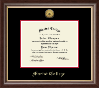 Marist College Diploma Frame - Gold Engraved Medallion Diploma Frame in Hampshire