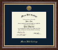 Mars Hill College Diploma Frame - Gold Engraved Medallion Diploma Frame in Hampshire