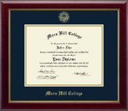 Mars Hill College Diploma Frame - Gold Embossed Diploma Frame in Gallery