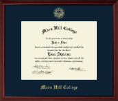 Mars Hill College Diploma Frame - Gold Embossed Diploma Frame in Camby