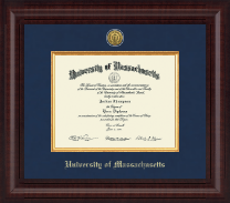 University of Massachusetts Lowell Diploma Frame - Presidential Gold Engraved Diploma Frame in Premier