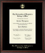 University of Virginia's College at Wise Diploma Frame - Gold Embossed Diploma Frame in Studio