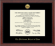 Pennsylvania State University Diploma Frame - Gold Engraved Medallion Diploma Frame in Signature