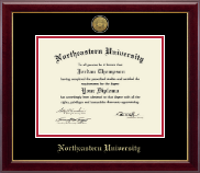 Northeastern University Diploma Frame - Gold Engraved Medallion Diploma Frame in Gallery