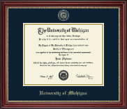 The University of Michigan Diploma Frame - Masterpiece Medallion Diploma Frame in Kensington Gold