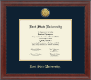 Kent State University Diploma Frame - Gold Engraved Medallion Diploma Frame in Signature