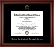Dallas Institute of Funeral Service Diploma Frame - Embossed Diploma Frame in Cambridge