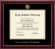 Georgia Institute of Technology Diploma Frame - Gold Embossed Diploma Frame in Gallery