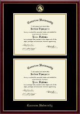 Cameron University Diploma Frame - Gold Embossed Double Diploma Frame in Galleria