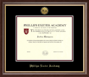 Phillips Exeter Academy Diploma Frame - Gold Engraved Medallion Diploma Frame in Hampshire