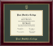 Paul Smith's College Diploma Frame - Gold Embossed Diploma Frame in Gallery