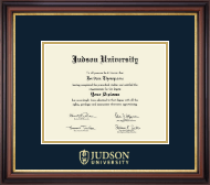 Judson University Diploma Frame - Gold Embossed Diploma Frame in Regency Gold