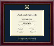 Northwood University in Texas Diploma Frame - Gold Embossed Diploma Frame in Gallery