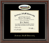 Alabama A & M University Diploma Frame - Campus Cameo Diploma Frame in Chateau