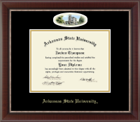Arkansas State University at Jonesboro Diploma Frame - Campus Cameo Diploma Frame in Chateau