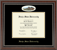 Idaho State University Diploma Frame - Campus Cameo Diploma Frame in Chateau