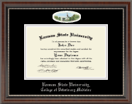 Kansas State University Diploma Frame - Campus Cameo Diploma Frame in Chateau
