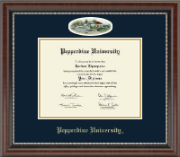 Pepperdine University Diploma Frame - Campus Cameo Diploma Frame in Chateau